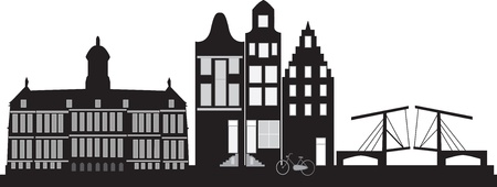 Amsterdam skyline in Holland  photo