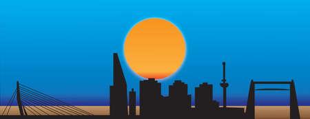 rotterdam skyline Stockfoto