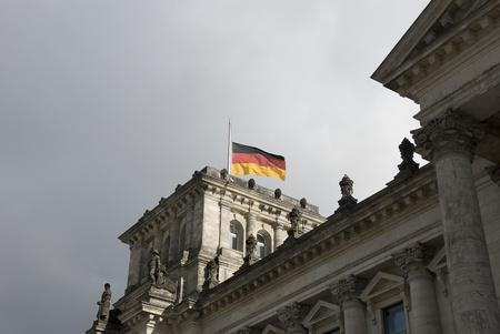 parliment building in german city Berlin photo
