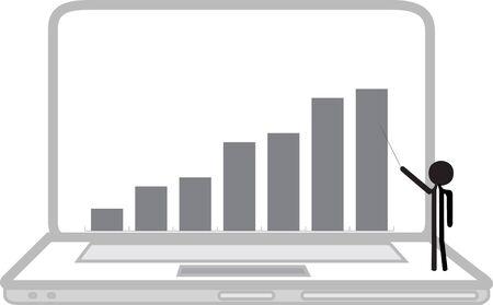 increasing: teacher showing increasing graphics