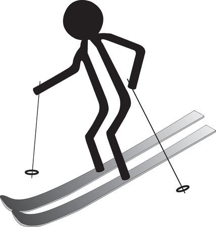man on the ski in winter icon Stock Vector - 22131517