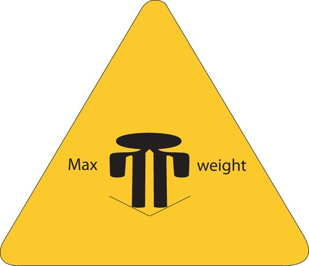 yellow sign with maximum weight