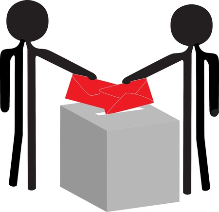 people with the enveloppe vor voting Vector