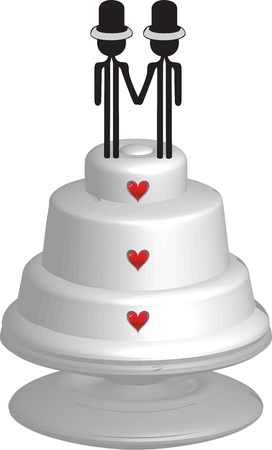 homosexual: wedding cake for homosexual married couple