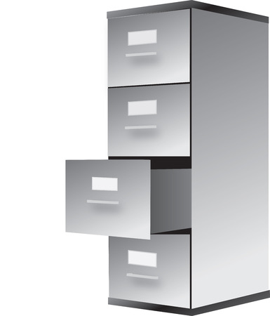 cabinet for archive papers and information Vector