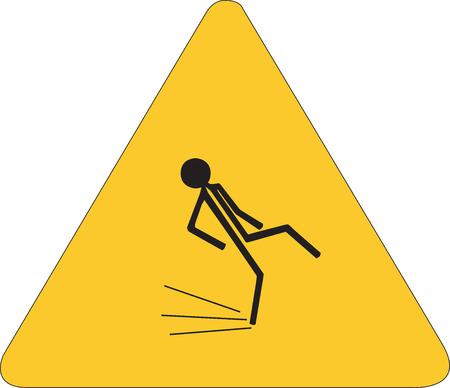 wet floor caution sign: Se�al de precauci�n piso mojado Vectores