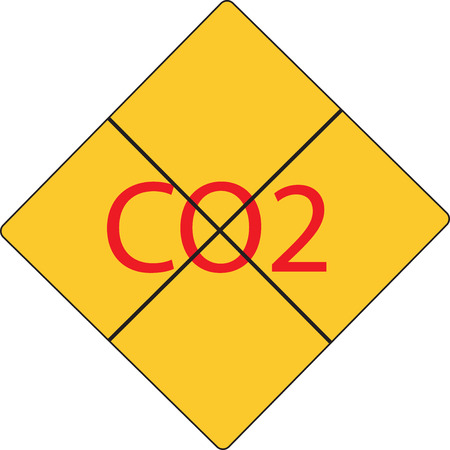 take care: Take care of co2 sign Illustration