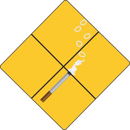 carcinogen: se�al amarilla se prohibe fumar