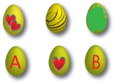 drawing of easter eggs in different colors Stock Vector - 22372075