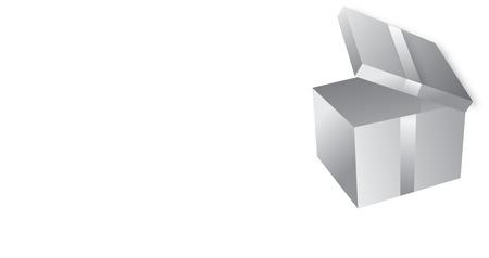 generosity: drawing of isolated grey box Illustration