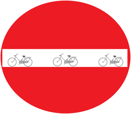 no image: red sign with no bikes allowed