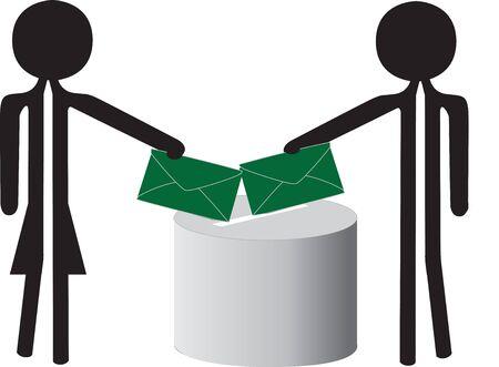 voting people Illustration
