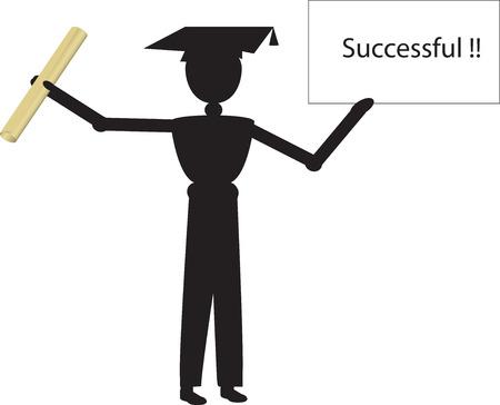 successfull: successfull Illustration