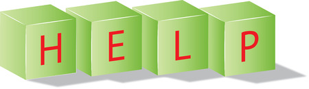 green cubes with the help text Vector