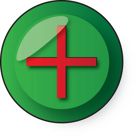 secluded: green button with the red plus sign