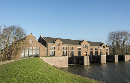 lemmer: The cathedral of steam, The ir. D.F. Woudagemaal in Lemmer, opened in 1920 by Queen Wilhelmina, is the largest steam-driven pumping station in the world still in use Stock Photo