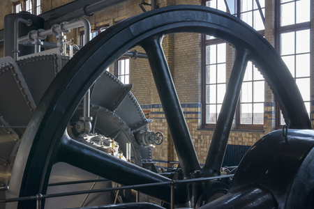 ensures: The ir  D F  Woudagemaal in Lemmer,on the world heritage list, opened in 1920 by Queen Wilhelmina, is the largest steam-driven pumping station in the world still in use Even today the monumental pumping station ensures that the people keep their feet dry