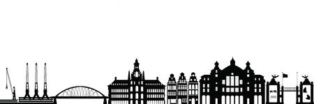 antwerp: antwerp skyline Illustration