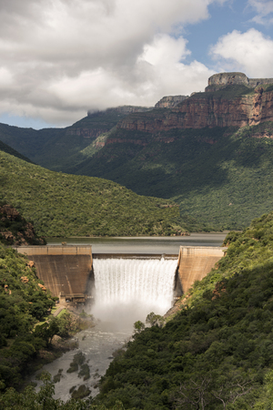 the swadini dam near the blyde river with the dragensberg as background Stock Photo - 27258400