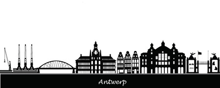 antwerp skyline Vector
