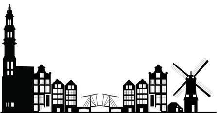 amsterdam skyline Banco de Imagens - 27258409