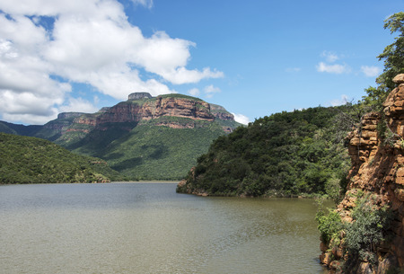 the swadini dam near the blyde river with the dragensberg as background Stock Photo - 27258366