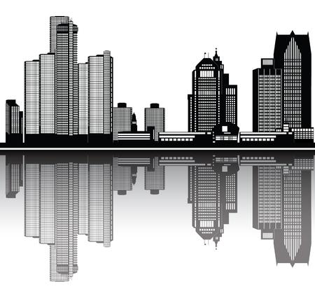 detroit american city Vector