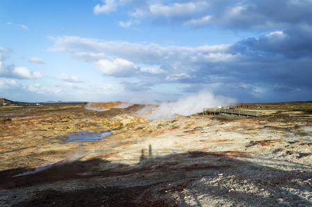 hot springs: gunnuhver iceland hot springs iceland