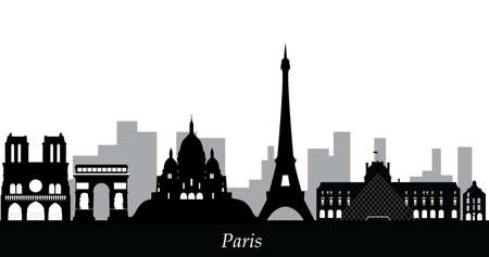 paris skyline Vector