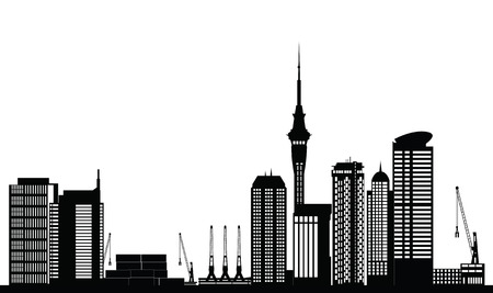 auckland new zealand city skyline