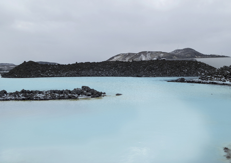 therapy geothermal: The Blue Lagoon geothermal bath resort in Iceland