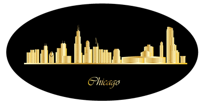 chicago skyline Illustration