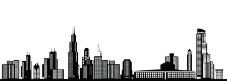 chicago skyline Stock Illustratie