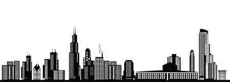 chicago skyline Vectores