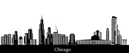 sears: chicago skyline Illustration