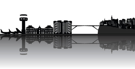 luxembourg: luxembourg city skyline