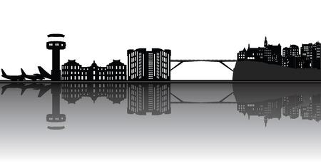 luxemburg skyline van de stad