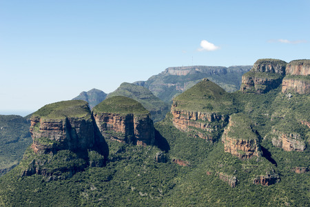 the three rondavels rock formation in south africa near hoedspruit on the panorama route photo