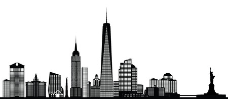 city  buildings: new york city skyline