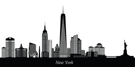 뉴욕시의 스카이 라인 일러스트