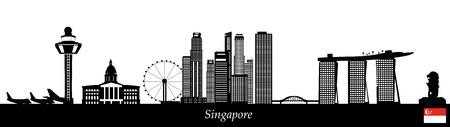 Horizon de Singapour Vecteurs