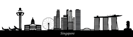 singapore skyline Stock fotó - 29675047