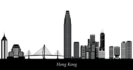hong kong skyline: hong kong skyline