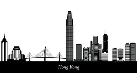 hong kong skyline Vector