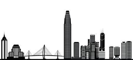 Skyline von Hong Kong Standard-Bild - 29842783