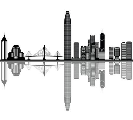 Skyline von Hong Kong Standard-Bild - 29842784