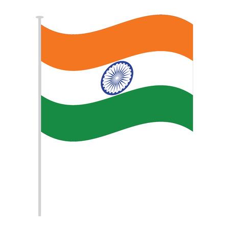 india flag isolated on white orange green