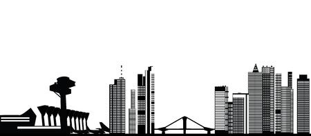frankfurt germany: frankfurt skyline