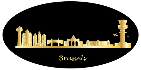 governement: brussels skyline Stock Photo