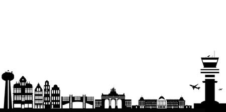 governement: brussels skyline Illustration